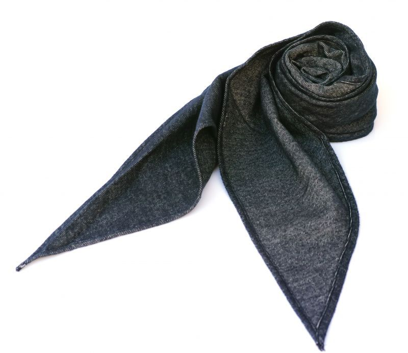 画像1: ts(s) Cotton Light Blanket Cloth Bias Cut Scarf NAVY (1)