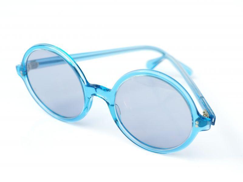 画像1: LESCA VINTAGE ROUND CLEAR BLUE (1)