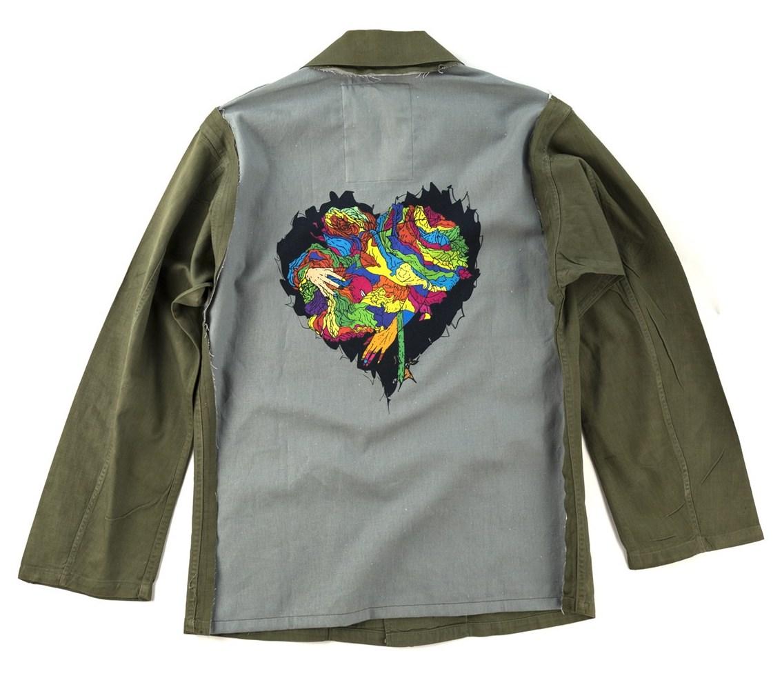 画像1: 予約商品  VARDE77 -MAKEOVER- JUNKIE HEART ARMY SHIRTS (1)