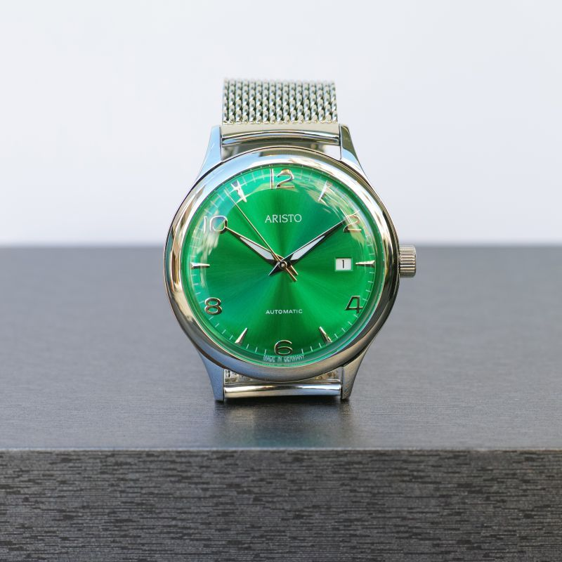 画像1: ARISTO AOUTOMATIC WATCH GREEN (1)