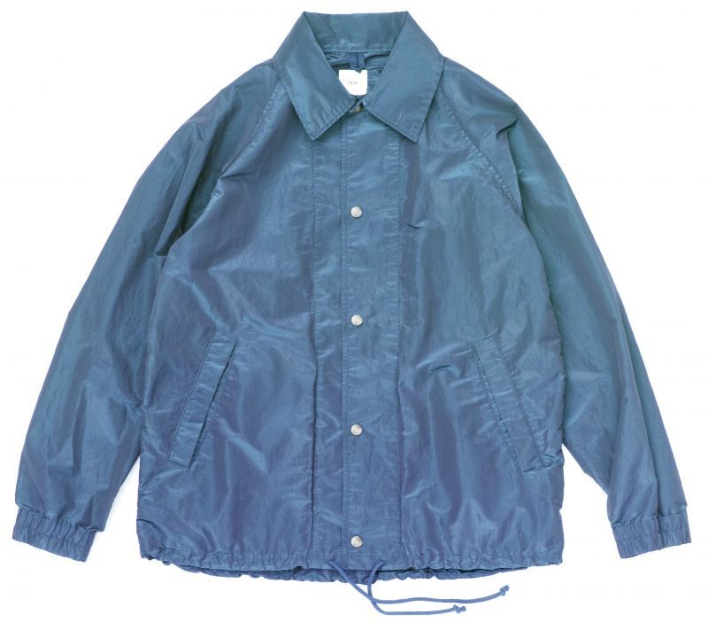 画像1: ts(s) Super Iridescent Nylon*Polyester Taffeta Cloth Coach Jacket NAVY (1)