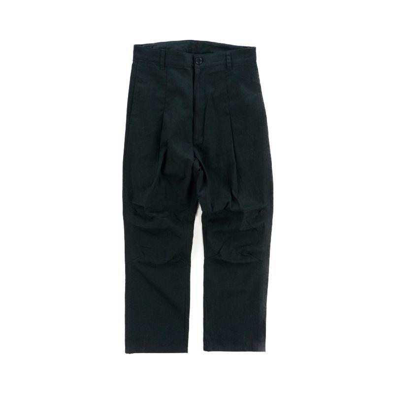 画像1: VARDE77 LONG TAC CHINO PANTS BLACK (1)