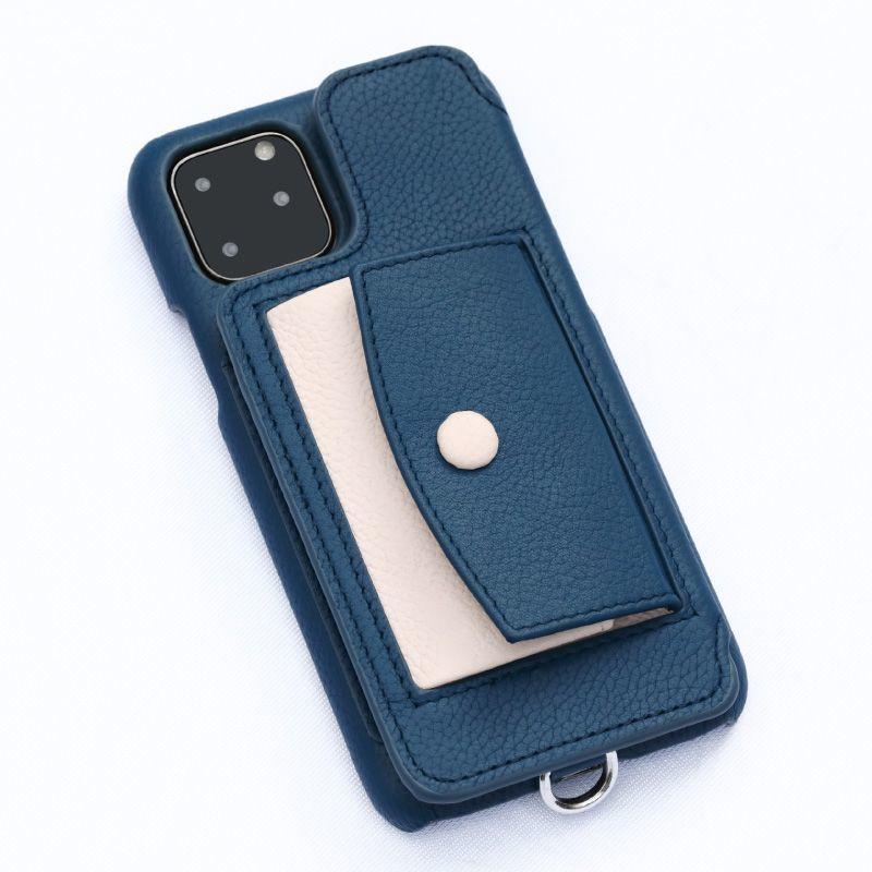 画像1: BIRTH POCHE Demiurvo i-PHONE CASE NAVY×ROSE (1)