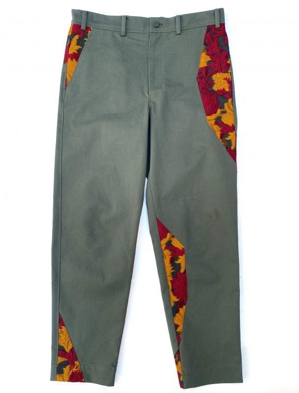画像1: AKI LACE FABLIC PANTS (1)