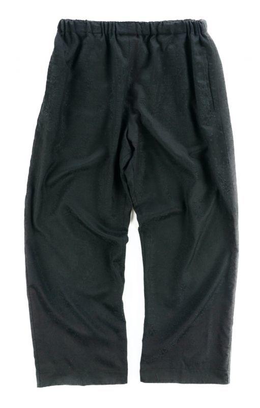 画像1: VARDE77 BANDANA JACQUARD EASY PANTS BLACK (1)