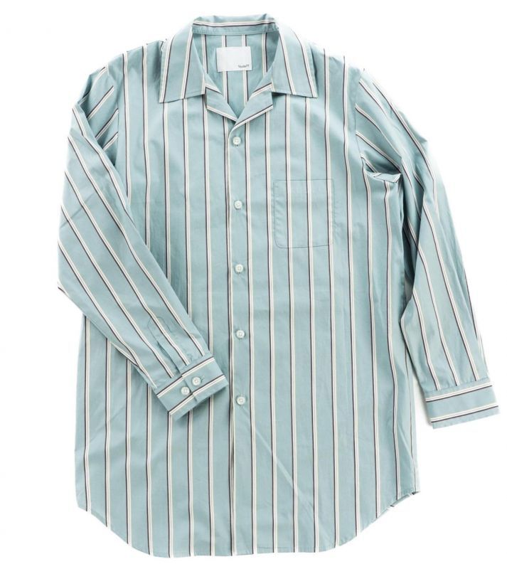 画像1: VARDE77 STRIPE LONG SHIRTS	 LIME (1)