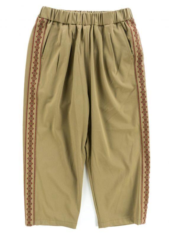 画像1: VARDE77 STICH LINE EASY PANTS BEIGE (1)