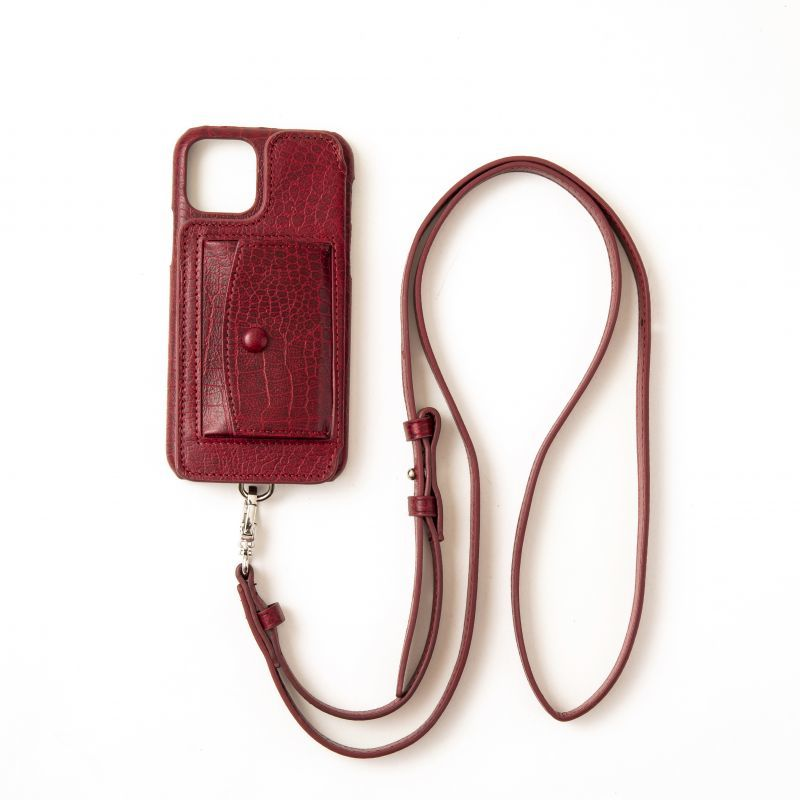 画像1: Demiurvo CROCO STRAP wine red (1)