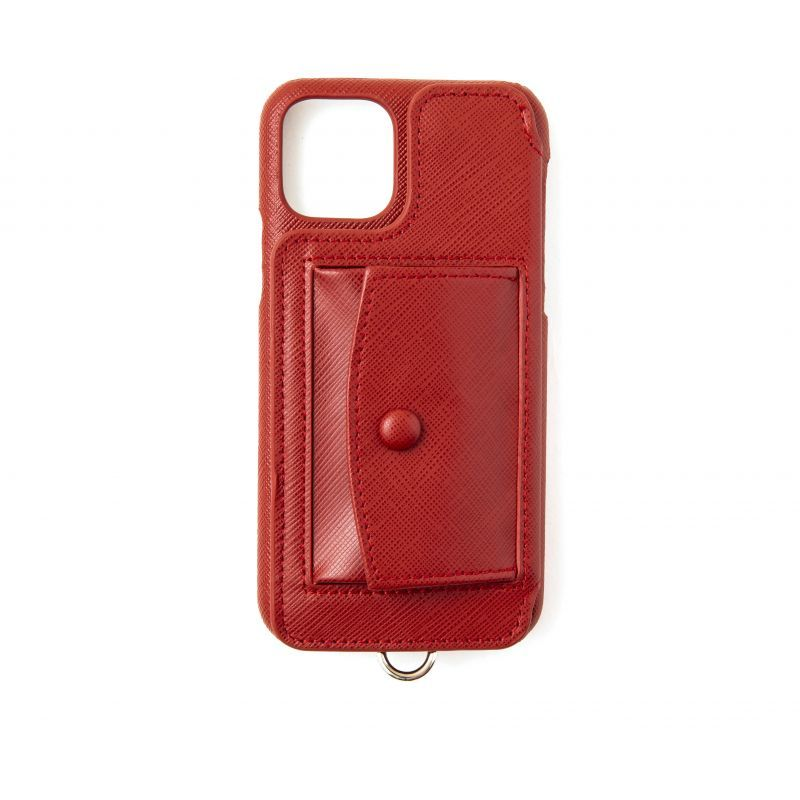 画像1: Demiurvo BIRTH POCHE SAFFIANO red (1)