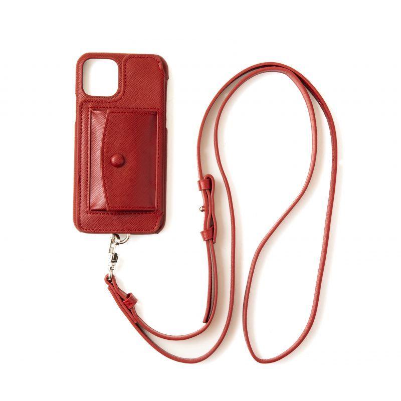 画像1: Demiurvo SAFFIANO STRAP red (1)