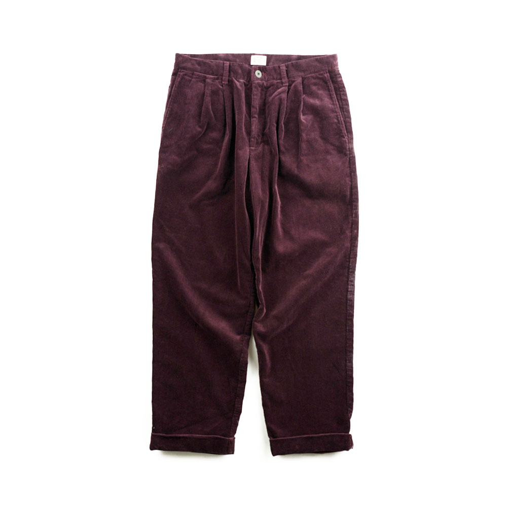 画像1: VARDE77 2TAC CORDUROY PANTS WINE RED (1)