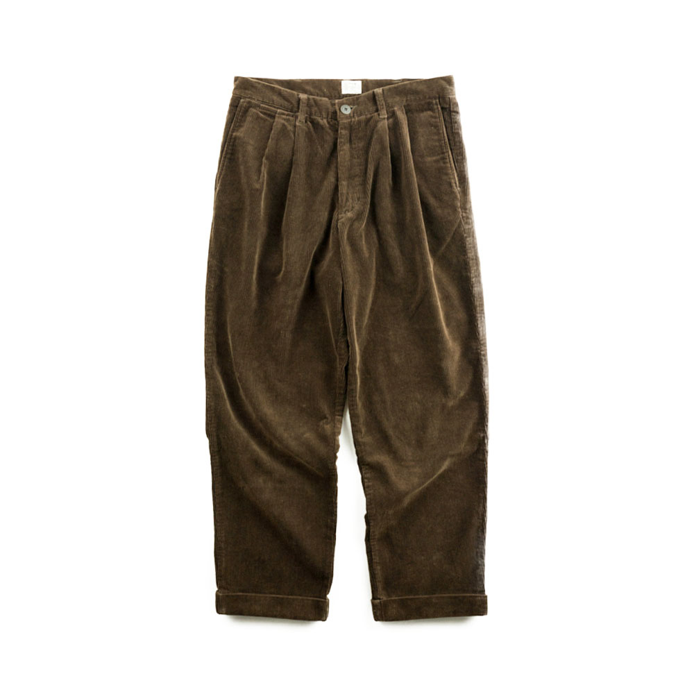 画像1: VARDE77 2TAC CORDUROY PANTS BROWN (1)