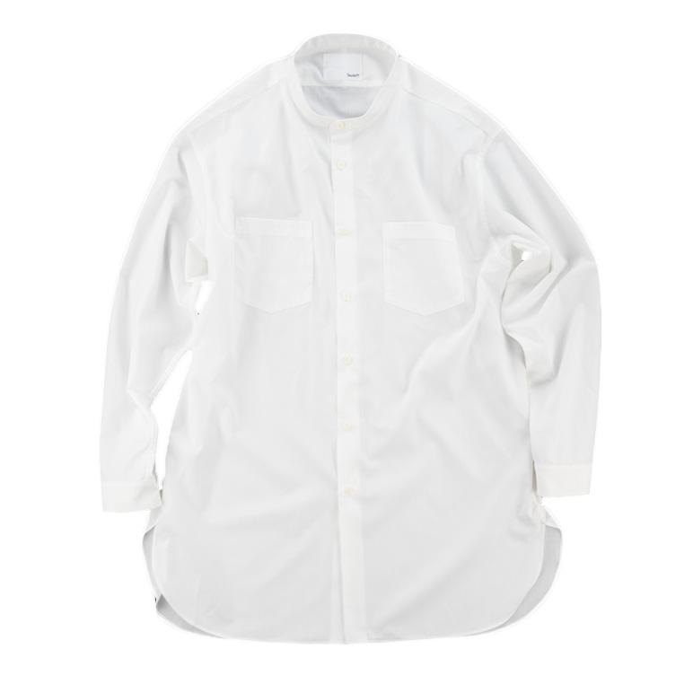 画像1: EASY CARE WHITE SEMI LONG SHIRTS (1)