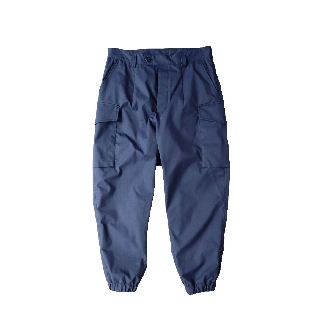 画像1: ts(s) Water Repellent Cotton Touch Polyester Stretch Herringbone / Side Flap-Pocket Cuffed Military Pants (1)
