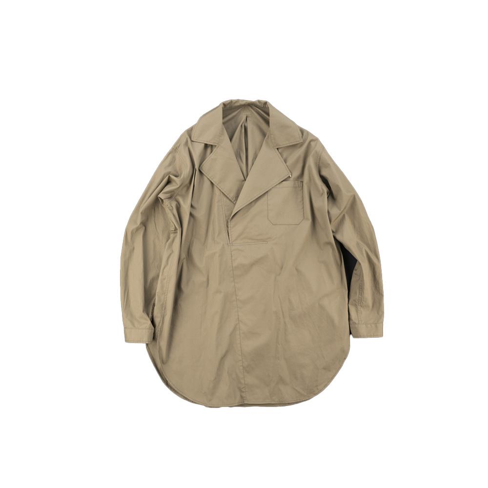 画像1: DOUBLE NECK LONG SHIRTS brown (1)