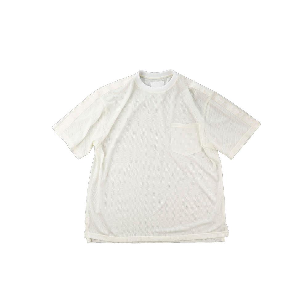 画像1: THE SOURCE MESH TRANING T-SHIRTS WHITE (1)