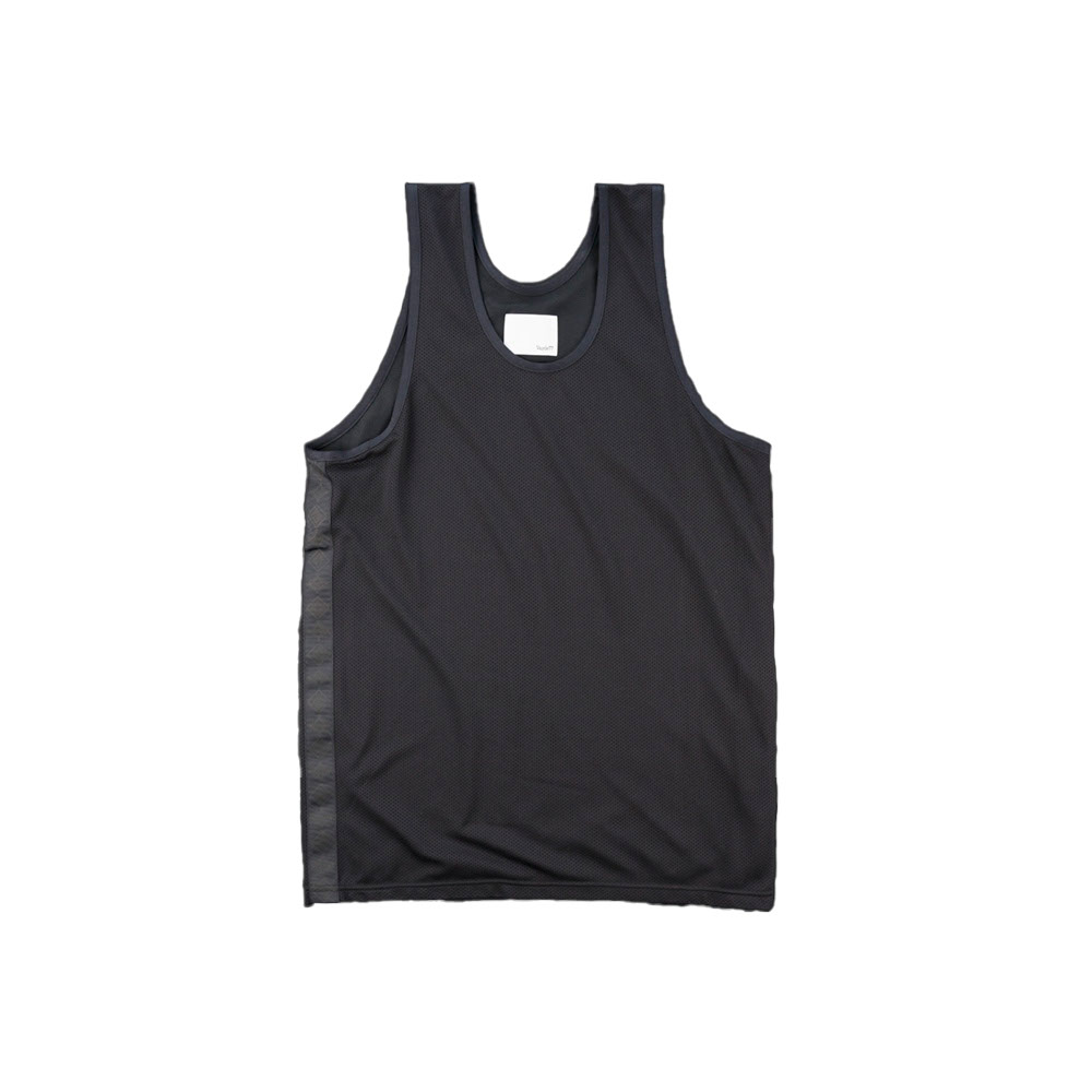 画像1: THE SOURCE MESH TRANING TANK TOP BLACK (1)