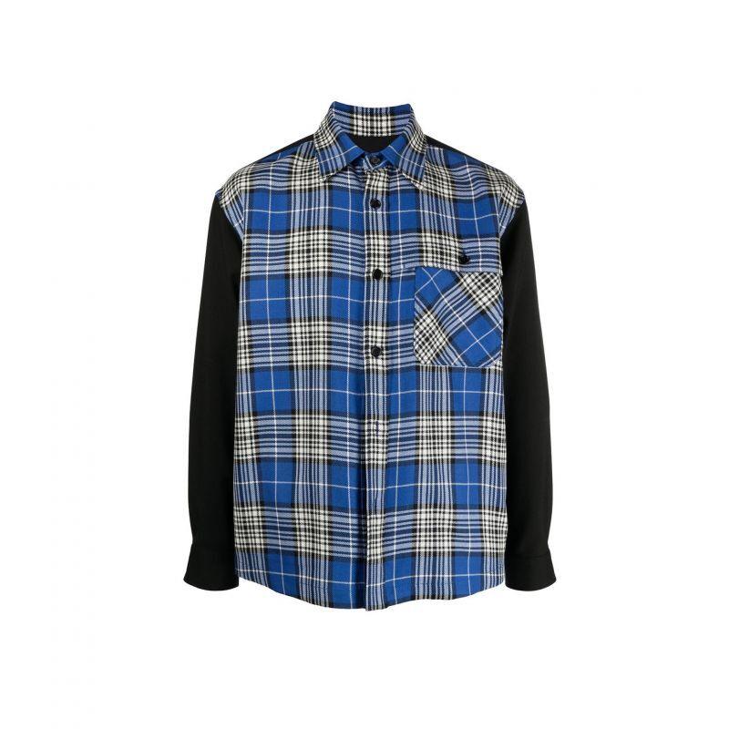 画像1: M A R N I フロントチェックシャツ (1)