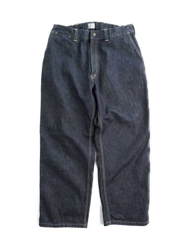 画像1: BIG SILHOUETTE 14 DENIM PAINTER PANTS (1)
